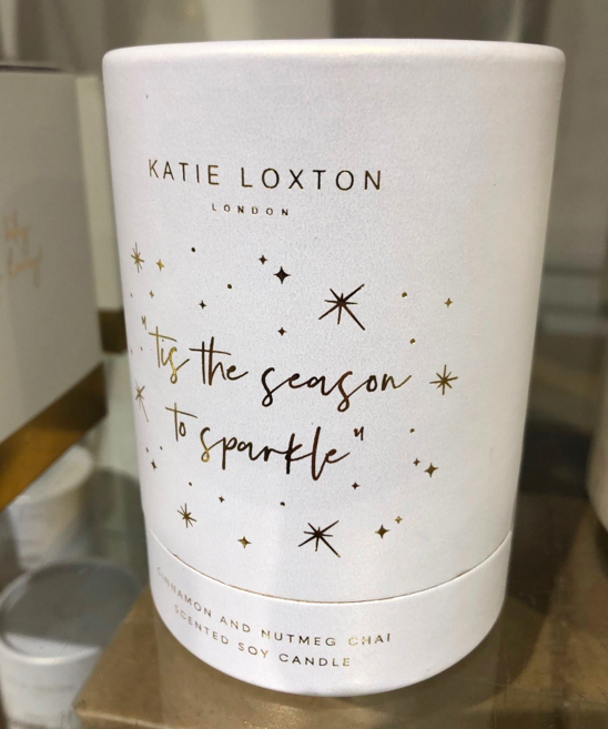 Katie Loxton Christmas Candle from La Maison in Kendal