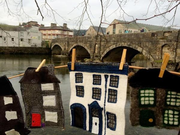 Yarn bombing in Wainwright's Yard Kendal