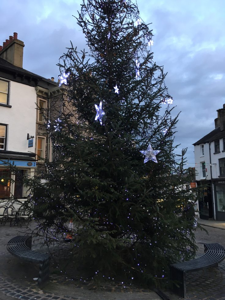Christmas in Kendal - market place Christmas tree